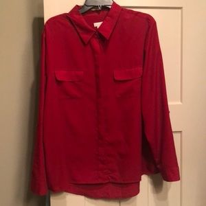 Chico's red button front blouse sz 4 18 20